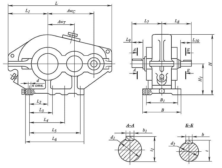 Схемы сборки редукторов
